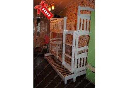 Акция! Двухъярусная кровать Карина Люкс Трио комплект