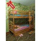 Акция! Двухъярусная кровать София с ящиками и матрасами